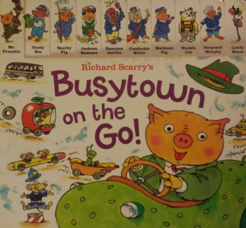 The cover of Busytown on the Go! book.