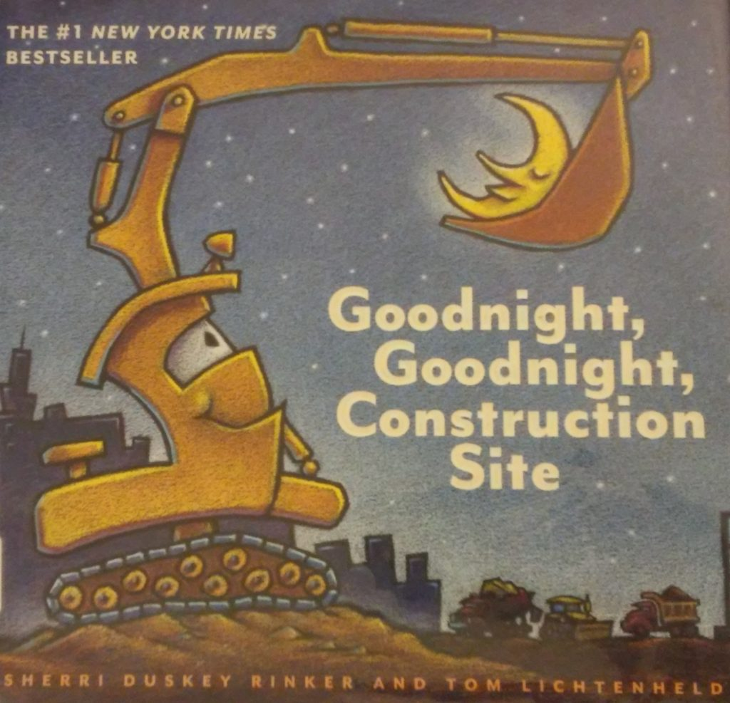 The cover of Goodnight, Goodnight, Construction Site book.
