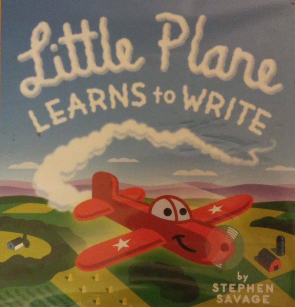 The cover of Little Plane Learns to Write book.