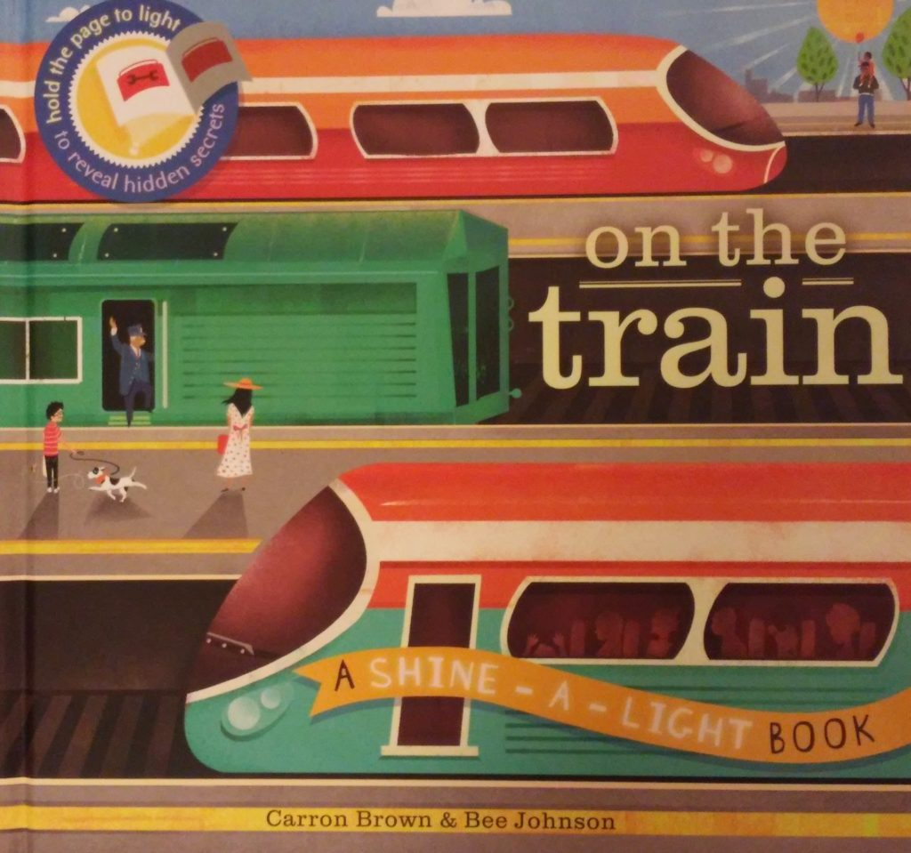 The cover of On the Train book.