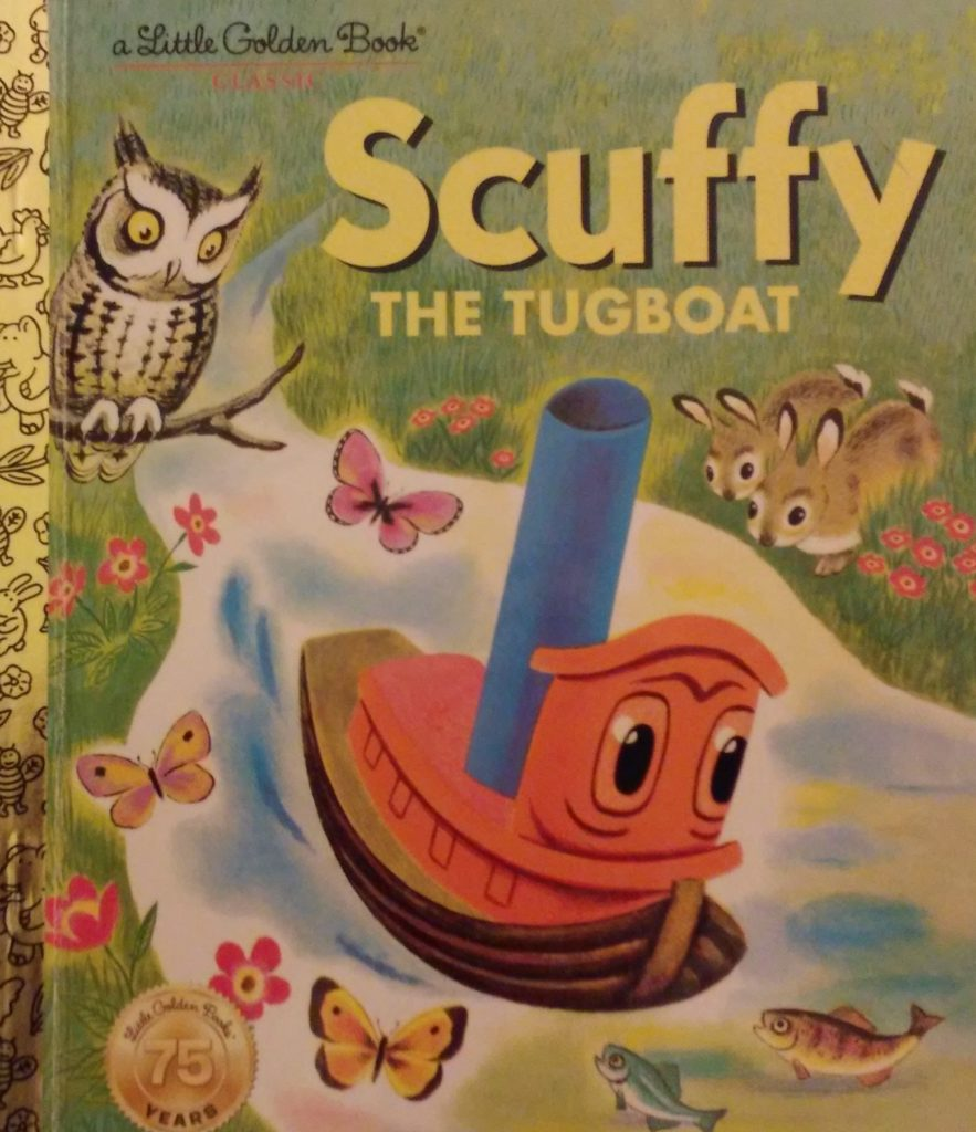 The cover of Scuffy the Tugboat book.