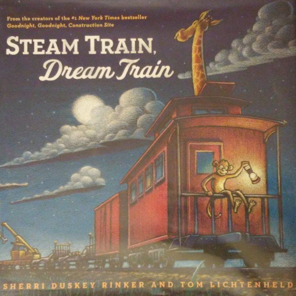 The cover of Steam Train, Dream Train book.