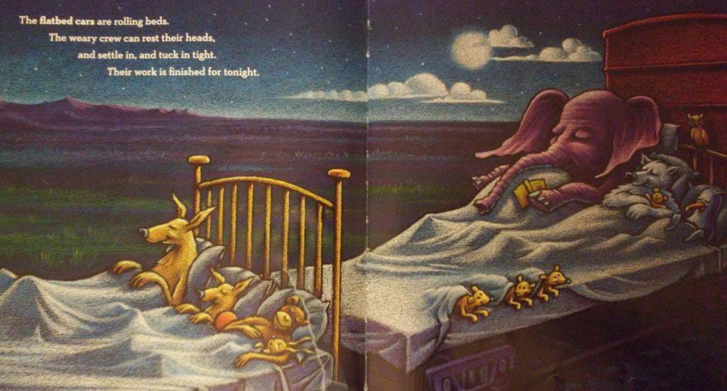 A page from Steam Train, Dream Train book.