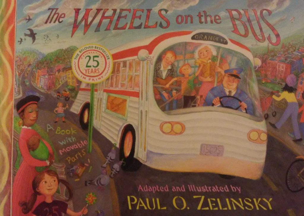 The cover of The Wheels on the Bus book.