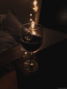 Picture of a glass of wine.