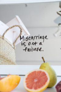 "Picture showing a sentence saying, ""Miscarriage is not a failure."""